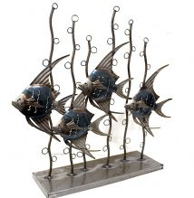 Angel Fishes Metal Art